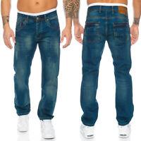 Rock Creek Herren Jeans Hose Comfort Fit Weites Bein RC-2103 W29-W44 NEU