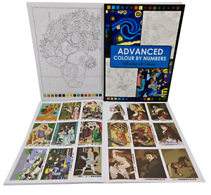 Advanced Colour by Numbers Masterpieces Colouring Book Adult Children's