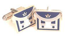 Freemason Masonic Apron Enamel Crested Cufflinks (N21)