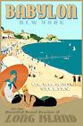 Babylon Long Island New York South Shore Beach Retro Art Deco Poster Print 341