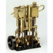 SAITO Steam Engine T2DR-L for Model Ship Two-cylinder, Long stroke New fro Japan