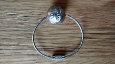 A Silver Coloured Mini Cricket Ball Strong Metal Keyring @ Only £4.25p !