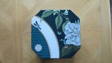 NEW SET OF 2 CAKE TINS TEAL BLUE FLOWER BUTTERFLY LADYBIRD PATTERN MARKS & SPENC