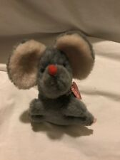 "Vintage 1978 Wallace Berrie plush stuffed animal rat mouse gray  7"" Korea #3"