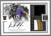 2016 Panini Impeccable Kenneth Dixon Rookie Patch Auto /75 RPA