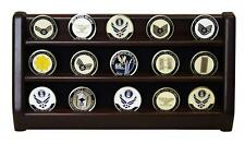 3 Rows Shelf Challenge Coin Holder Display Casino Chips Holder Solid Wood