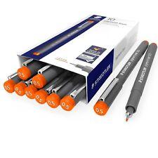 Staedtler 308 Pigmento Liner Fineliner – 0.5 mm – envase de 10 – Naranja