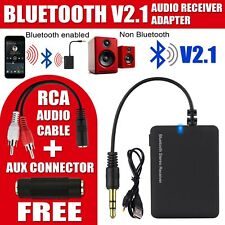 Wireless Bluetooth To AUX Stereo Music Receiver Adapter Car Speaker BTR006 UK