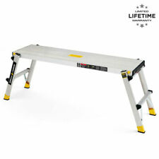 Gorilla Ladders Portable Folding Aluminum Work Platform, 300 lbs. Load Capacity