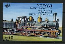 R486  Yugoslavia 1992   Steam Locomotives trains COMPLETE BOOKLET   MNH
