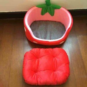 Indoor Dog House Bed Pet Round Soft Basket Travel Warm Cushion Winter Sofa Plush