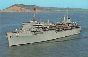 Postcard USS Dixon AS-37 Submarine Tender