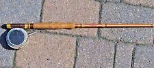 """Vtg St Croix Double Power 8'6"""" Fiberglass Fly Rod Martin Mohawk Reel"""