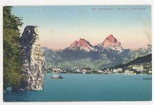 Switzerland, Schillerstein, Brunnen u die Mythen Postcard, B209