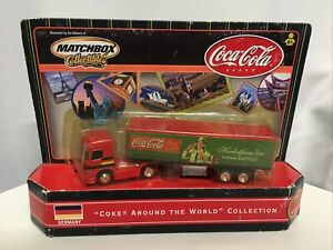"Matchbox Mercedes Benz Semi Truck ""Coke Around The World"" Germany Coca Cola New"