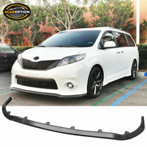 Fits 11-16 Toyota Sienna SE Only MP Style Front Bumper Lip Spoiler ABS
