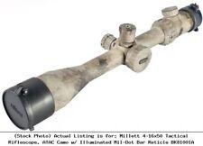 Millett 4-16x50 Tactical Riflescope, ATAC Camo w/ Illuminated Mil-Dot : BK81001A