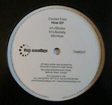 """CIUDAD FELIZ ~ How EP ~ 12"""" Single"""