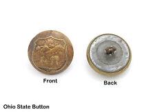 1 Original Civil War Period Military Button State of Ohio Crest, No Maker Mark