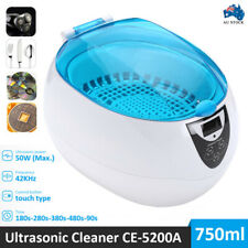 Ultrasonic 750ML Multi Purpose Jewellery Watch Cleaner Digital Sonic Wave Clean