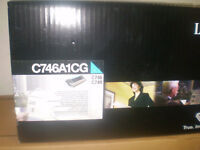 original Lexmark Toner cyan C746A1CG C748 C746 neu A-Ware