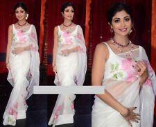 Bridal Bollywood Georgette Print Saree Ethnic Wedding Indian Designer Sari JB