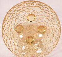 Amber Glass Berry Bowl Dewdrop Raindrop Bubble Vintage PATTERN MAKER HELP