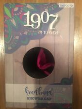 1907 by Fromm headband shower cap face wash black and pink cosmetic facial NEW