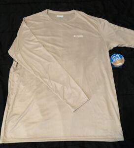 NWT Columbia PHG Longsleeve Tee Light Brown B&T Size 2XT Dog Logo On Back