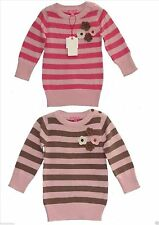 Striped 100% Cotton Dresses (0-24 Months) for Girls