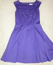 LADIES PURPLE CLAVIN KLEIN COTTON BLEND DRESS IN SIZE 6