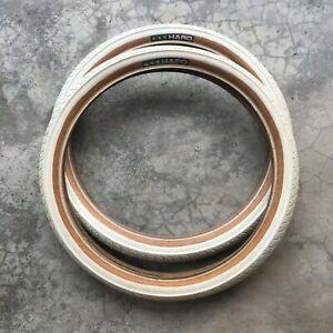 Haro HPF Tires 20x2.0 Old School BMX White Japan Made Master Vintage Comp Pool