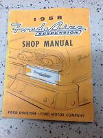1958 Ford AIRE Suspension Service Shop Repair Workshop Manual OEM