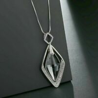 Necklace Women Crystal Chain Jewelry Pendant Statement Diamond Long Gift Fashion