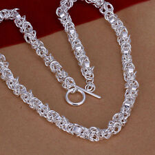 hot! wholesale Sterling solid silver fashion jewelry Chain Necklace XLSN060