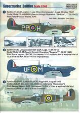 Print Scale Decals 1/144 SUPERMARINE SPITFIRE & SEAFIRE British WWII Fighters