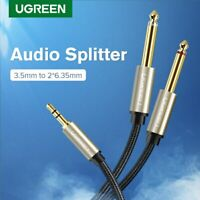 Ugreen 3.5mm Male to 6.5mm Male Audio Aux Splitter Cable for Amplifer Guitar New
