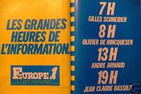 PUBLICITÉ 1981 EUROPE 1 LES GRANDES HEURES DE L'INFORMATION - ADVERTISING