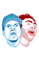 Chance the Rapper and Childish Gambino Poster 36x24 Inches