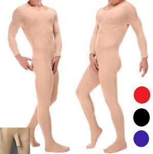 Men's full Bodysuit Stockings Tights 120D Thick  #182