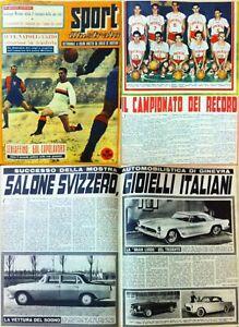 Lo sport illustrato gennaio giungo 1957 25 numeri Diretto Da E. De Martino