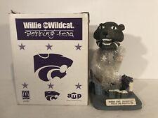 WILLIE THE WILDCAT Kansas State K State Mascot Bobble Head 2002 - BRAND NEW
