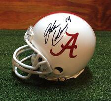 Alabama Jake Coker signed custom bama mini helmet w/coa