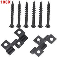 More details for 100pcs composite decking screw metal hidden starter  fixing fastener with screws