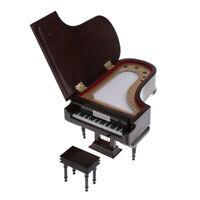 Miniaturklavier im Maßstab 1: 6 mit Hocker Musikinstrument für Puppen # 1