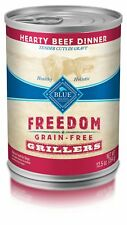 Blue Freedom Grillers Adult Grain-Free Hearty Beef Wet Dog Food 12.5Oz (Pack Of