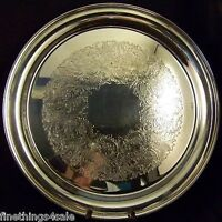 SUPERB ANTIQUE GORHAM SILVER ROUND SERVING TRAY PLATTER - OUR FineThings4sale