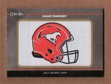 2017 Upper Deck CFL Calgary Stampeders O-Pee-Chee Team Logo Patch 2017 Helmet