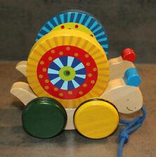 Schnecke Holz Spielzeug Zugtier bunt Natur Nachziehtier Geschenk Weihnachten