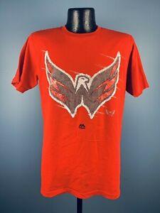 Men's Washington Capitals NHL Hockey Cotton Pond Hockey Red Tee Shirt NWT XL